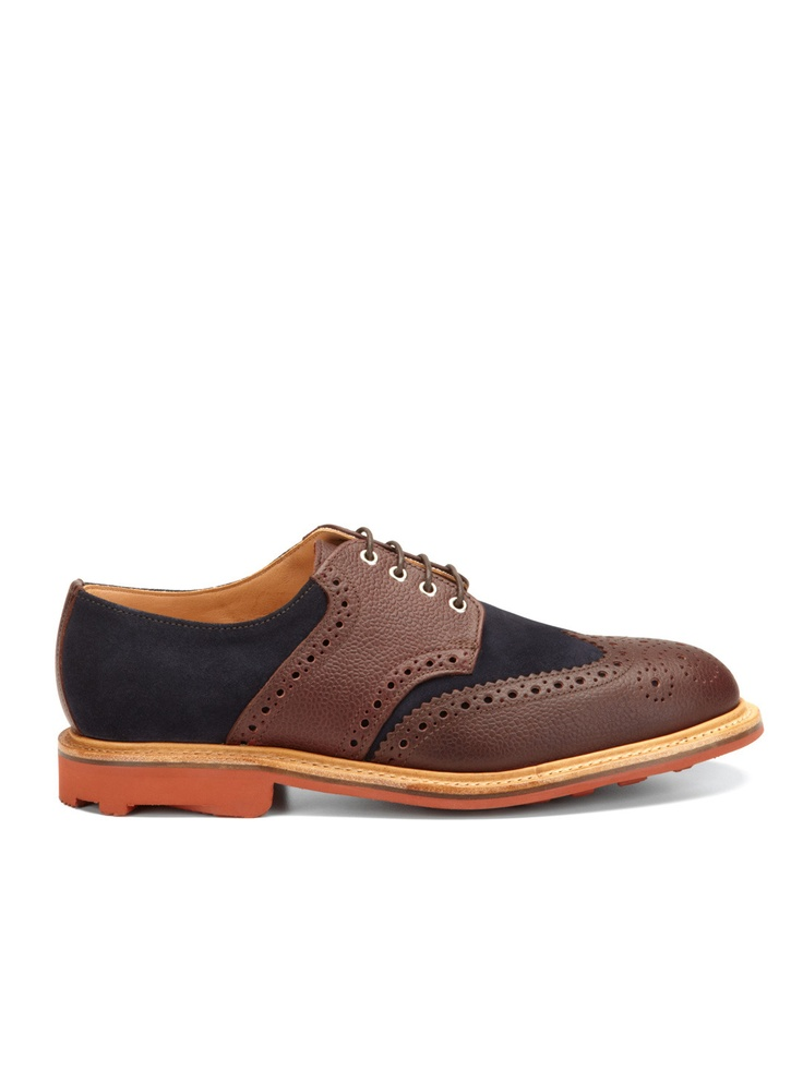 MARK MCNAIRY Wingtip Saddle Shoes