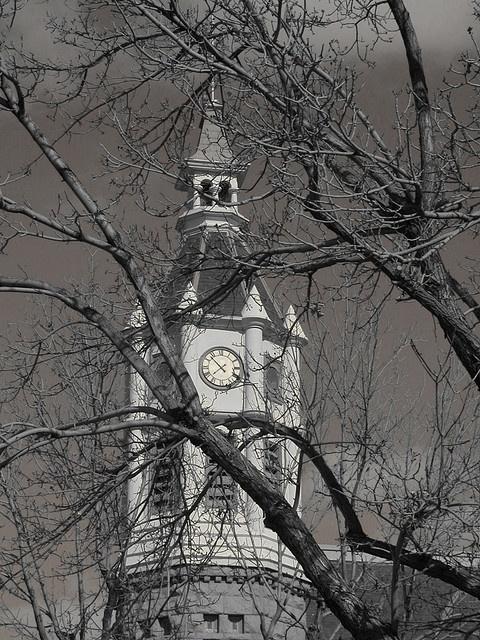 Clock tower in downtown Rock Springs, Wyoming.