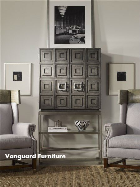 The Knickerboker Bar Cabinet By Vanguard Furniture, Found At Dau Furniture,  Is A Contemporary Bar Cabinet Designed By Interior Designer Michael Weiss.