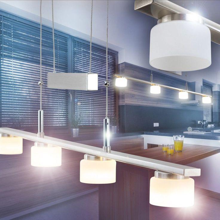 LED Design Pendellampe Hängeleuchte Wohn Zimmer Lampe Esszimmer  Höhenverstellbar