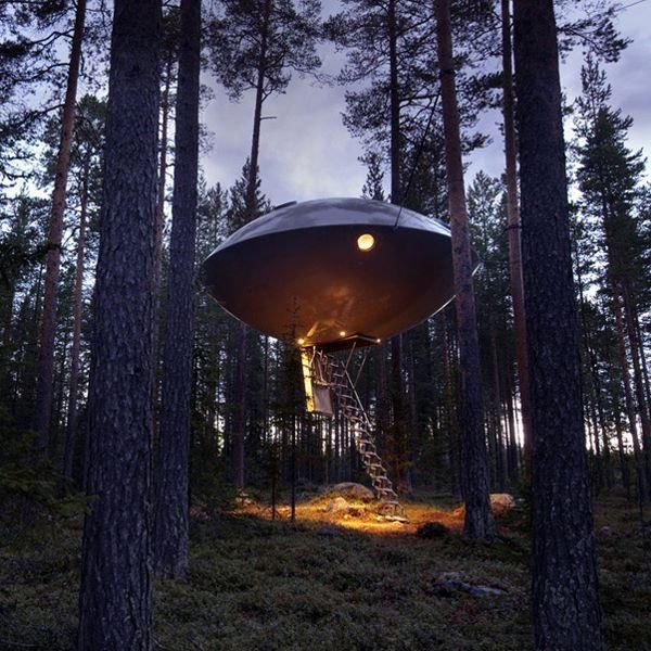 UFO room at Tree Hotel in Sweden
