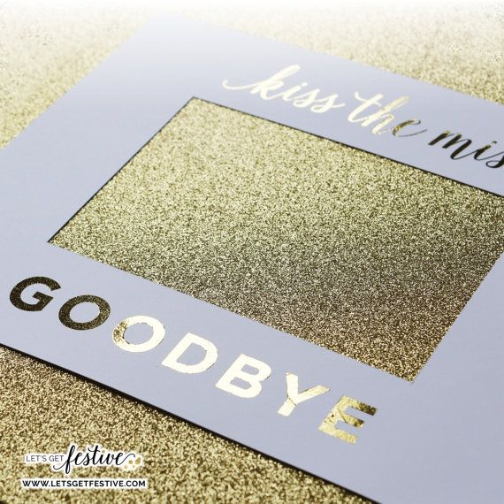 Kiss the Miss Goodbye Framing Mat Bachelorette by LetsGetFestive
