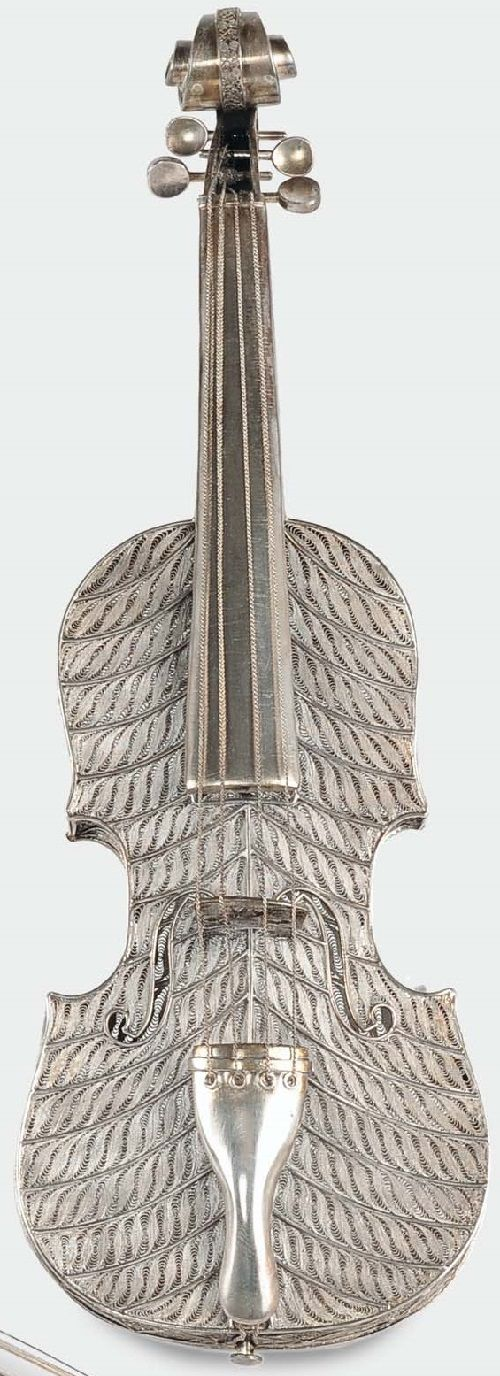 ---20th century filigreed violin----Modelo de arco de violino filigrana de…