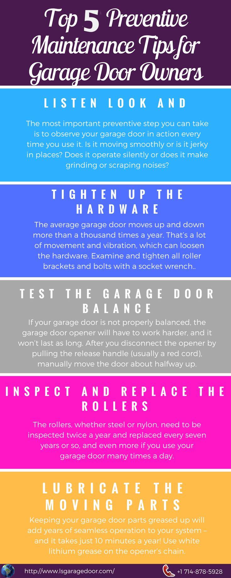 173 best garage door repairs images on pinterest carriage doors here are top 5 preventive maintenance tips for home owners to keep garage door rubansaba
