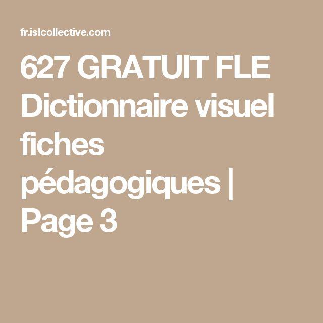 627 GRATUIT FLE Dictionnaire visuel fiches pédagogiques    Page 3