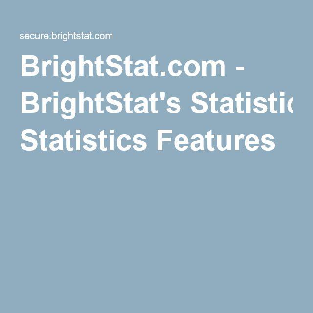 BrightStat.com - BrightStat's Statistics Features