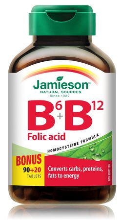 Jamieson B6 B12 Folic Acid Bonus Pack $10.49 - from Well.ca
