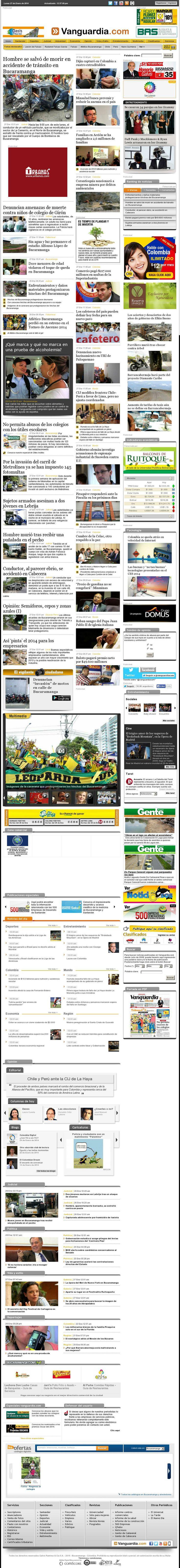 The website 'WWW.VANGUARDIA.COM' courtesy of @Pinstamatic (http://pinstamatic.com)
