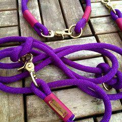 """purple pleasure"" mit ""fuchsia"" und Messing"