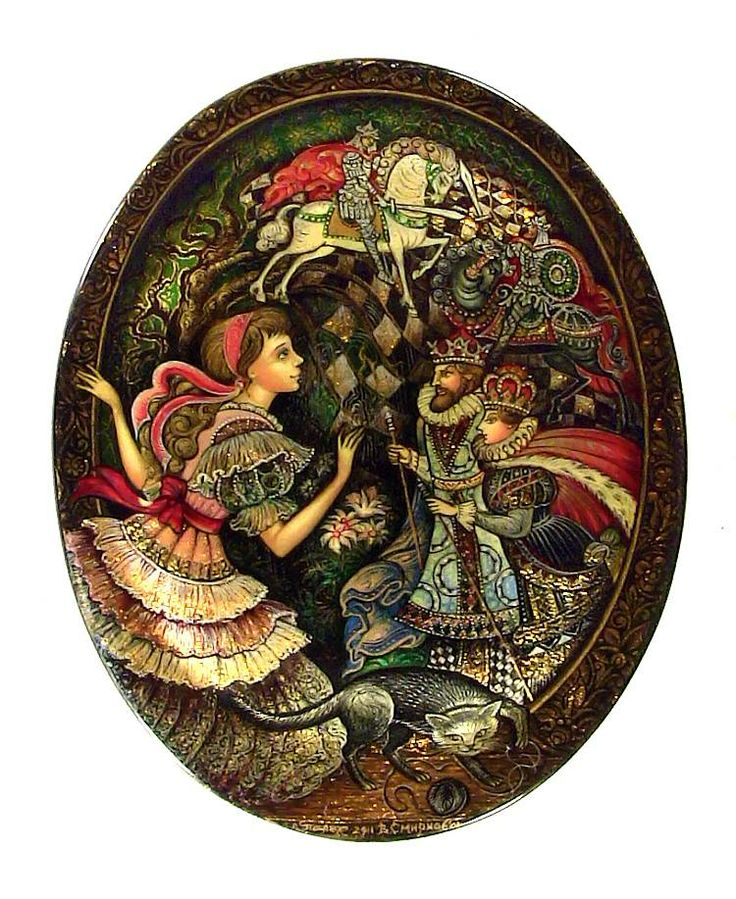 Through the Looking Glass (2011)  from Palekh by Vera Smirnova