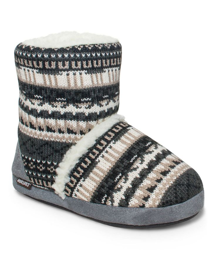 Look what I found on #zulily! Tan Crazy Fair Isle Sherpa Ankle Boot by