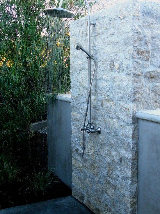 60 best outdoor showers images on pinterest outdoor for Outdoor bathroom decor