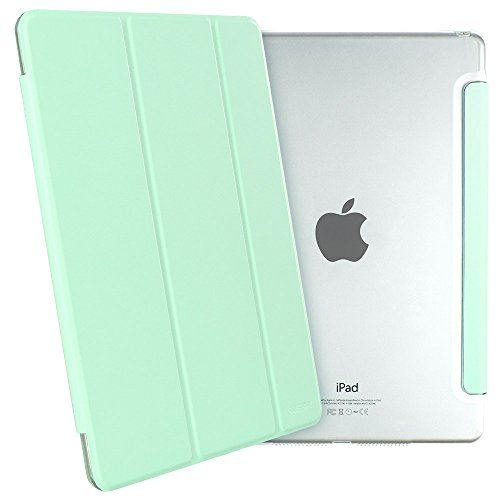 AmazonSmile: iPad Mini Case, iPad Mini 3 Case, ESR Yippee Colour Series iPad Mini Transparent Back Ultra Slim Light Weight Auto Wake Up/Sleep Smart Cover Tri-fold Protective PU Leather Case for iPad Mini 3/2/1 (Fresh Mint): Computers & Accessories
