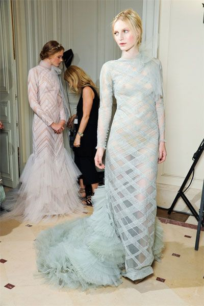 lovely backstage at valentino couture . . .