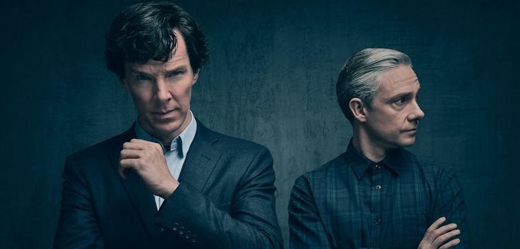 new photo released from the next fourth series of sherlock <3 Martin looks hotter than ever, i think, his hair is a little bit blonder? ^^