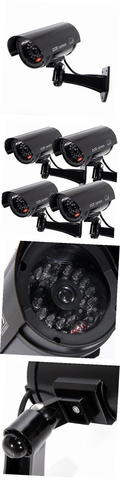 Dummy Cameras: Masione 4 Pack Outdoor Fake Dummy Security Camera W Blinking Light Cctv -> BUY IT NOW ONLY: $31.96 on eBay!