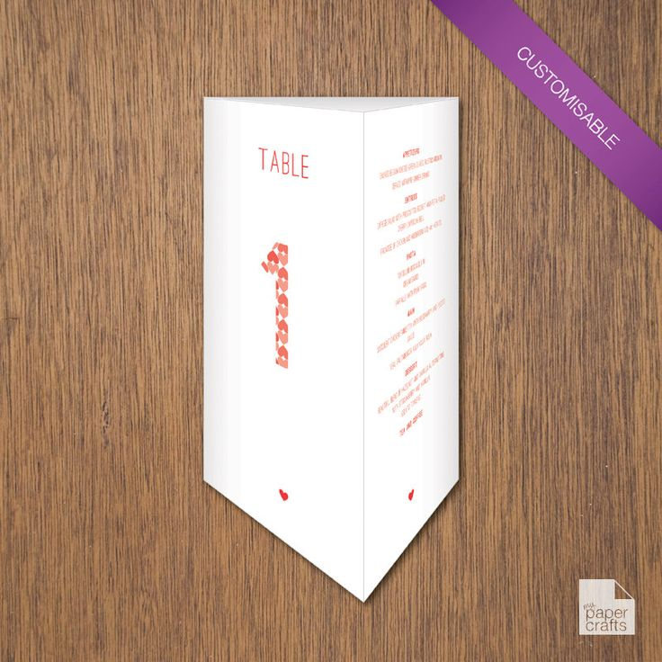Simple Love - Menu Trifold | DIY Printable by myPaperCraftsau on Etsy | See the complete set here - http://etsy.me/1c8IXWH