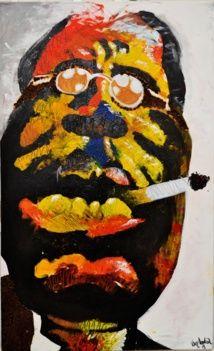 Artagence Peinture Congo - Van Andréa | Alberto giacometti, Fantasy artwork, Art