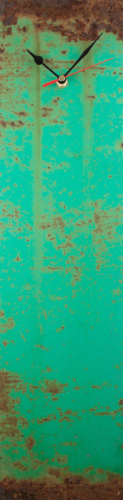 Teal clock Patina clocks Rusty Wall clock by ReformationsUK