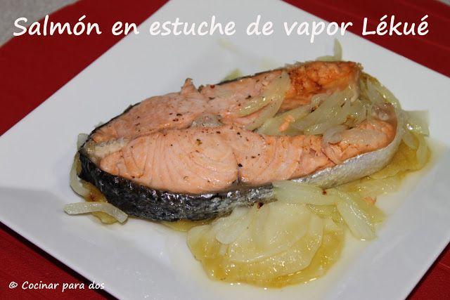 Salm n en estuche de vapor l ku cocinar para 2 for Cocinar salmon