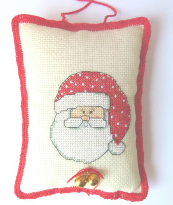 SANTA  HANDMADE Decor. Christmas Decor by CrossStitchElizabeth