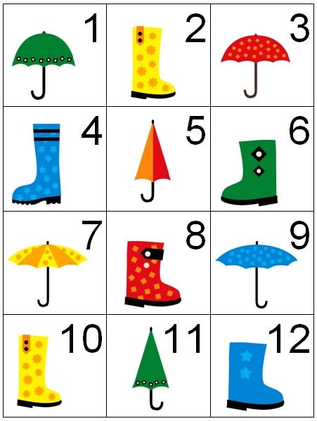Counting Coconuts: Calendar Cards: Rainy Days - she has some great themed numbers for your calendars