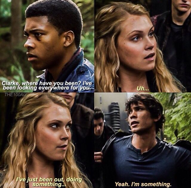 The 100 BELLARKE ❤️❤️ I wishhhhhh this is so funny to me   The