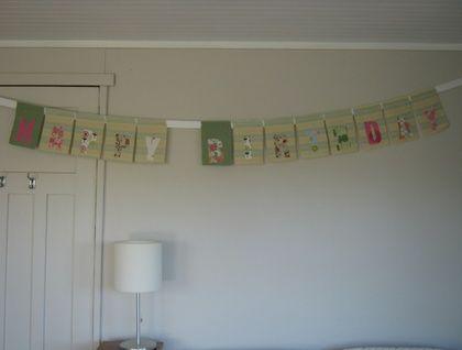 Vintage blanket birthday banner