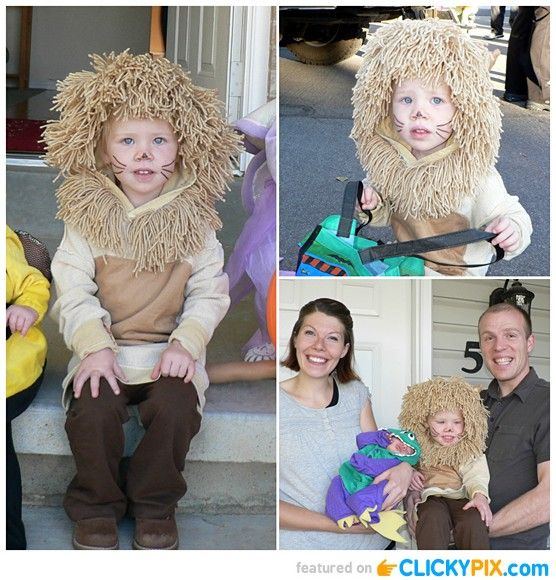 I love all the baby lion costumes out there - but I love that this particular one is DIY - could be made smaller for a baby or toddler. Cute!
