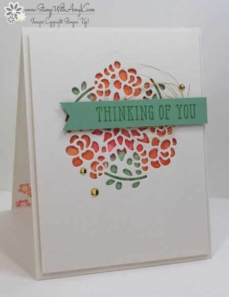 Stampin' Up! Window Box Thinlits Dies set, Window Shopping & Happy Celebrations stamp sets Stamp With Amy K