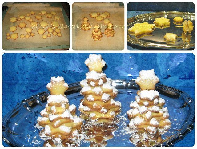 Alberelli di Natale in Pasta Frolla | Sulla scrivania di Melangy