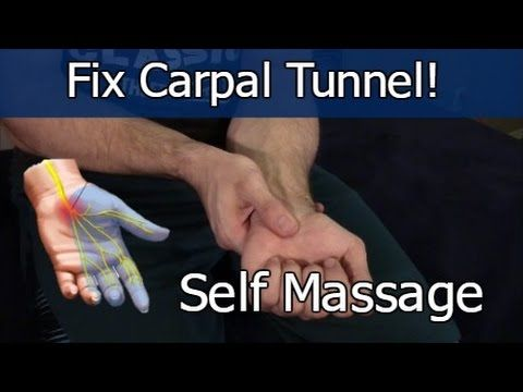 Massage for Wrist Pain RELIEF! STOP Carpal Tunnel Syndrome FAST! - YouTube