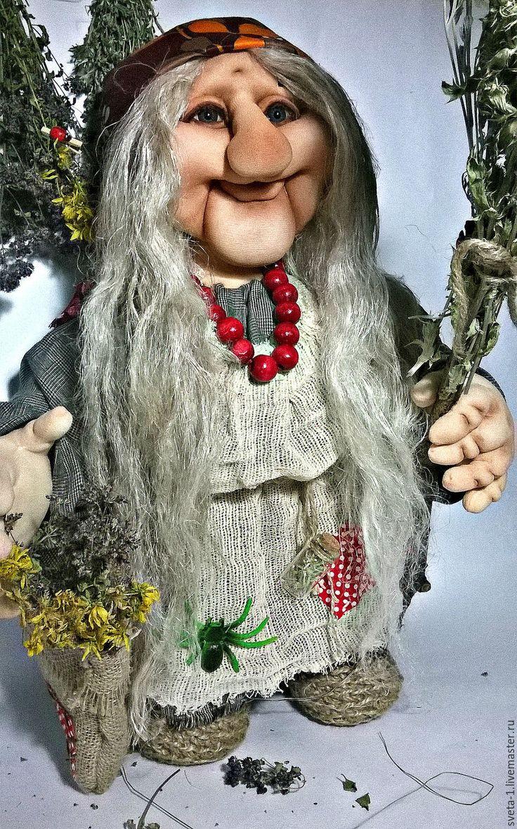 Купить Баба-яга - серый, баба яга, интерьерная кукла, подарок на любой случай