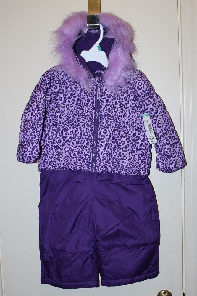 c75401022 NWT Infant Girls Jacket   Snow Bibs Pants set Size 18 months Purple ...