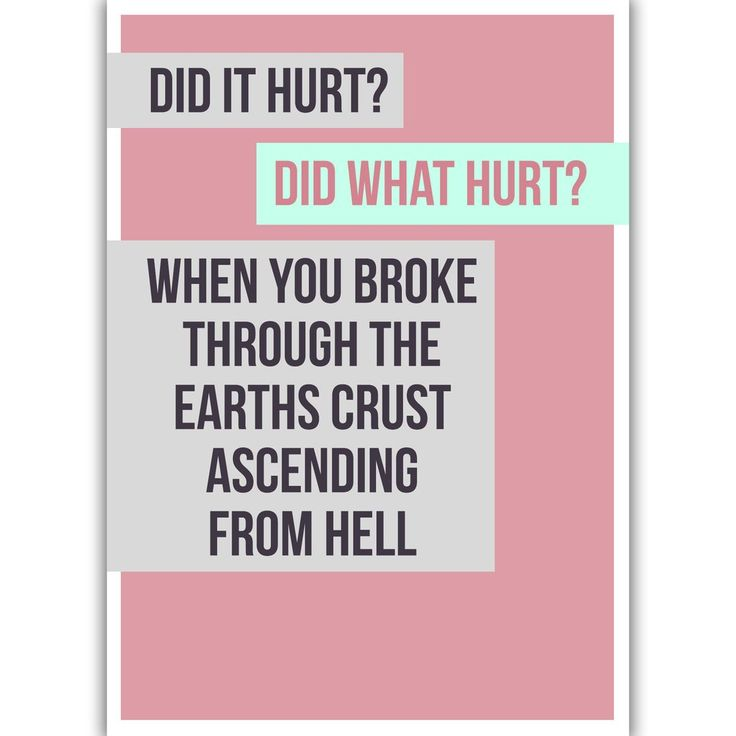 Card - Did It Hurt | NZ New Zealand - Buy Online - Gift Ideas for Christmas, Birthday & Anniversary | The Red Dog Gift Shop | Motueka, Nelson