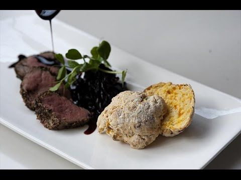 Pumpkin Scone with Peppered Veal Fillet - Goodman Fielder Food Service Recipes - YouTube