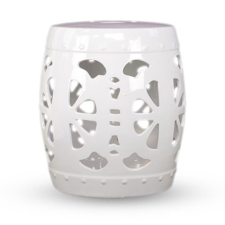 amalfi white ceramic garden stool find it at the foundary
