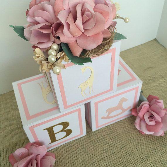 Baby Block Shower Cake