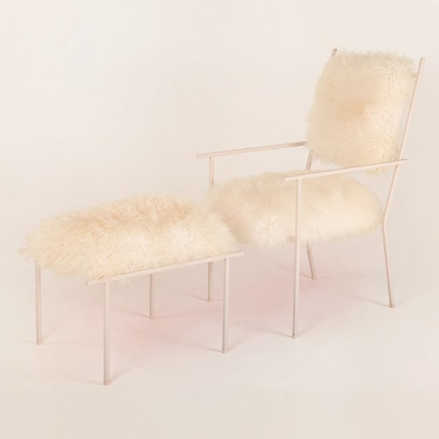 Fur chair and ottomanMixed Seats, Products