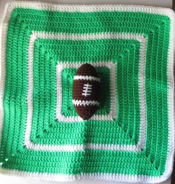 Crochet Pattern For Football Blanket : 17 Best images about Crochet - Security Blanket, Travel ...