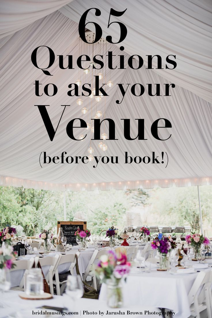 65 Questions to ask your Wedding Venue (Before You Book!) | Bridal Musings Wedding Blog
