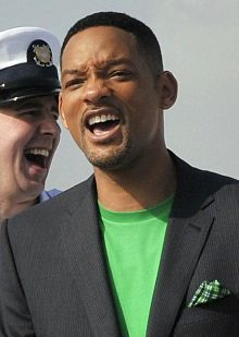 Actor Will Smith lights up the stage as he hosted the 2011 Walmart Shareholders Meeting.