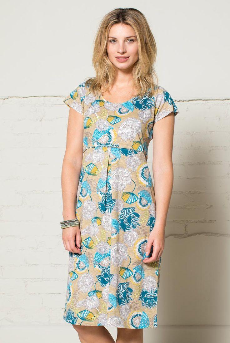 Šaty z biobavlny s potiskem lotusů.