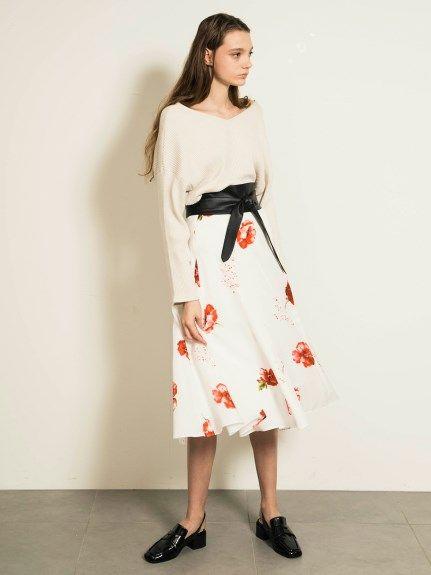 バリエーションミディスカート(膝丈スカート)|snidel(スナイデル)|ファッション通販|ウサギオンライン公式通販サイト
