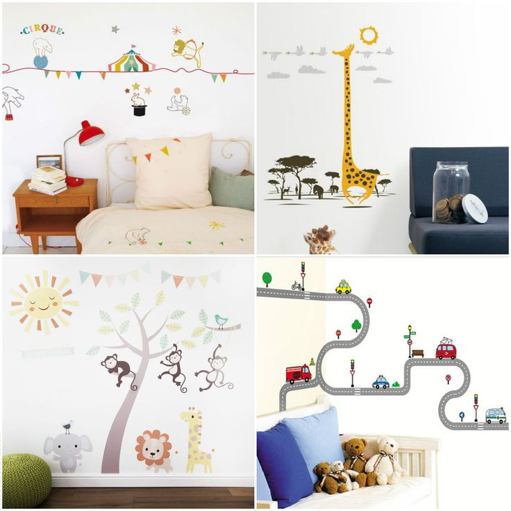 С помощью виниловых наклеек на стену, в детской комнате без труда можно создать…