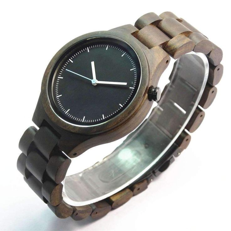 Buy Black Sandal Wood Analog Watch with Wood Band for Men at All Wood Watch for only $89.99