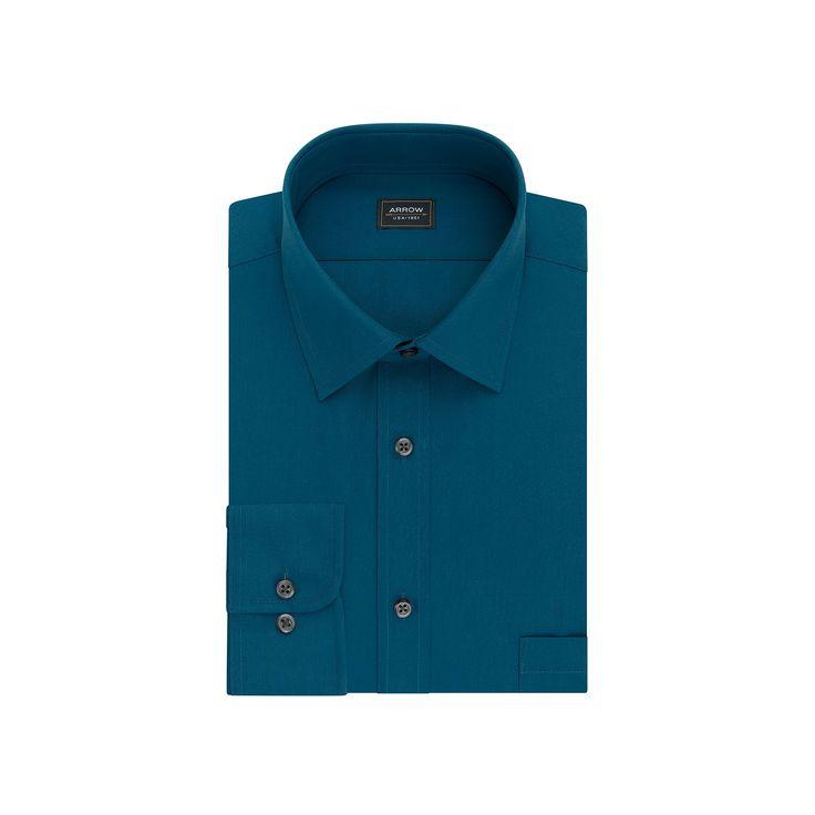Men's Arrow Classic-Fit Dress Shirt, Size: 2X-34/35, Orange