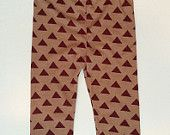 Baby Leggings Maroon and Gold Triangles FSU Baby Boy or Girl by Lottie and Me Baby Wear