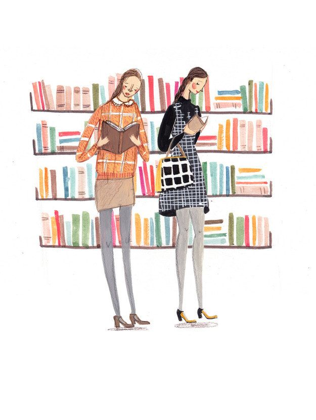 """""""All Quiet in the Library"""" print by Emma Block 