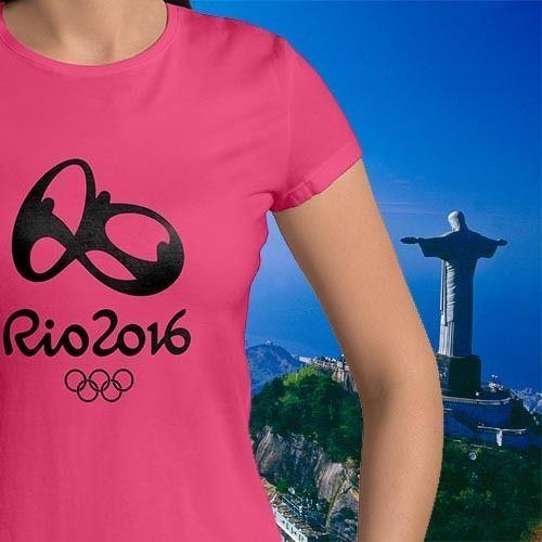 Brazil Rio 2016 Summer Olympics Games Tee Top Womens Juniors Crew Neck T-Shirt